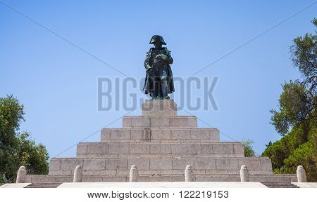 Memorial With Statue Of Napoleon Bonaparte