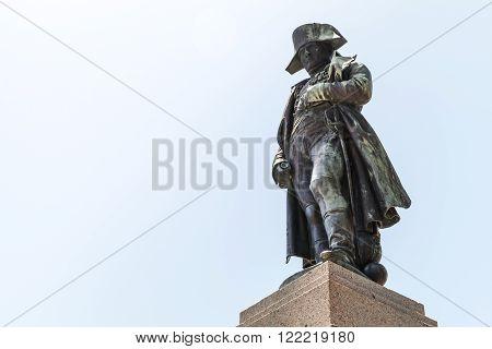 Statue Of Napoleon In Ajaccio, Corsica, France