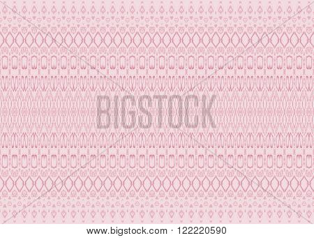 Abstract geometric plain background, ornate and delicate. Seamless diamond pattern pink with violet outlines.