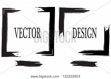 Hand drawn grunge frame text.. Grunge Brush Stroke . Vector Brush Stroke . Distressed Brush Stroke . Black Brush Stroke . Modern Textured Brush Stroke . Dry Brush Stroke . Ink Brwsh. Vector Art Brush.