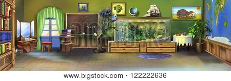 Digital painting of the Little Kids' Room. Panorama