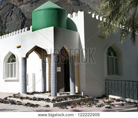The mosque in village Bilad Sayt sultanate Oman