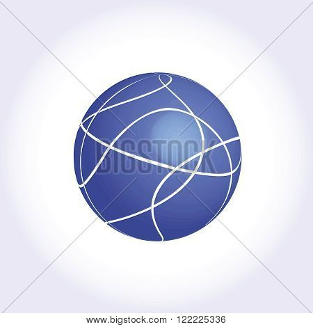 Blue Shere logotype icon creative ball structure