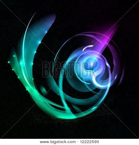 abstract background with space fantastic organism