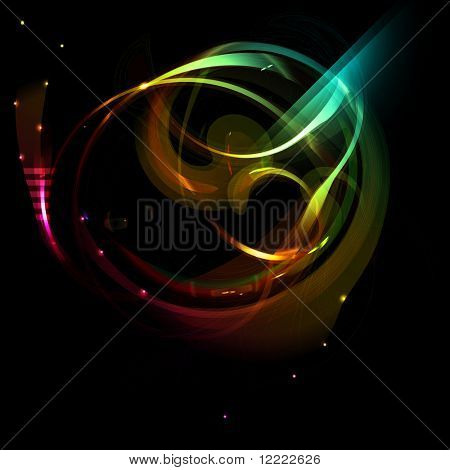 abstract background with space fantastic object