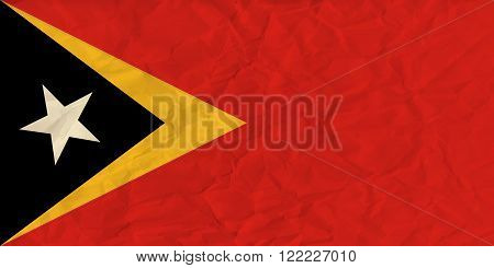 Vector image of the East Timor paper  flag