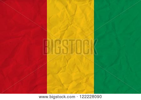 Vector image of the Guinea paper  flag