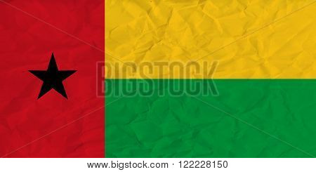 Vector image of the Guinea-Bissau paper  flag