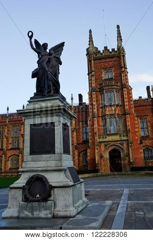 Belfast, United Kingdom - 22 February 2016: Queens's University Belfast (UK) in a sunny day