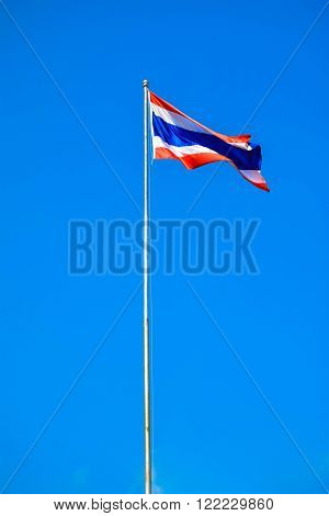 Flag of Thailand. Is one of the countries in Southeast Asia.
