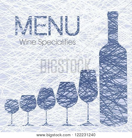 Wine list with wine specialties for restaurants, pubs and beverages