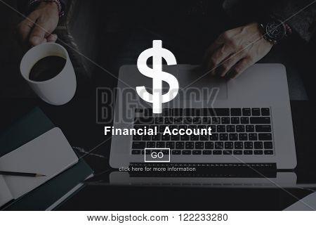 Financial Account Money Cash Dollar Sign Concept