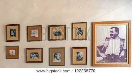 Havana, Cuba - April 2, 2012: Exhibition Of Ernest Hemingway Inside Hotel Ambos Mundos, Where He Liv