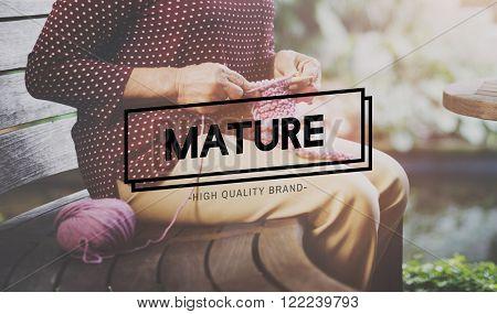 Mature Fully Developed Lifestyle Behavior Concept