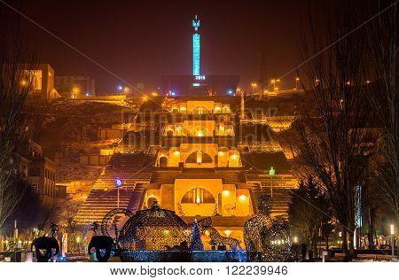 Cafesjian Art Museum and Cascade Alley in Yerevan, Armenia