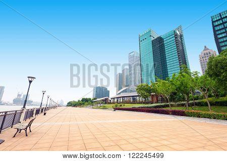China Shanghai Lujiazui Huangpu River waterfront high-rise