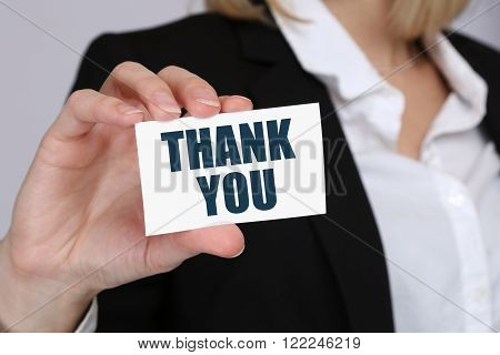 Thank You Business Concept