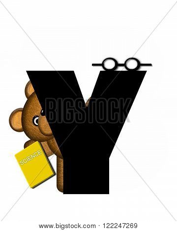 The letter Y in the alphabet set
