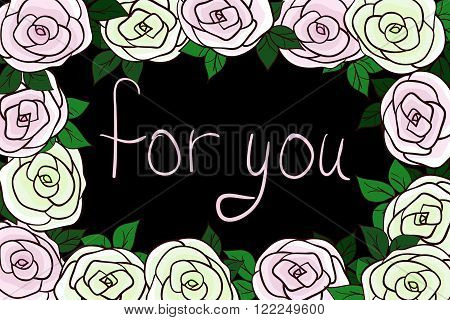 card for you romantice illustration RGB vector