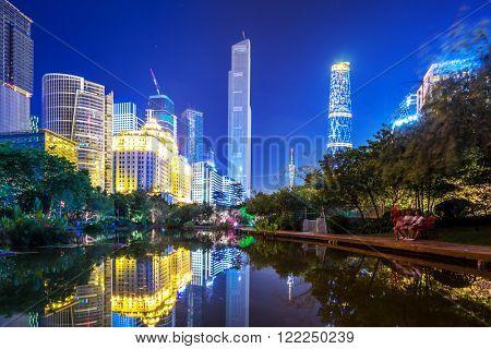 modern waterfront buildings in guangzhou