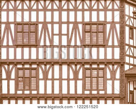 Tudor Building Vintage
