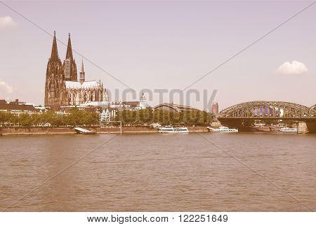Koeln Panorama Vintage