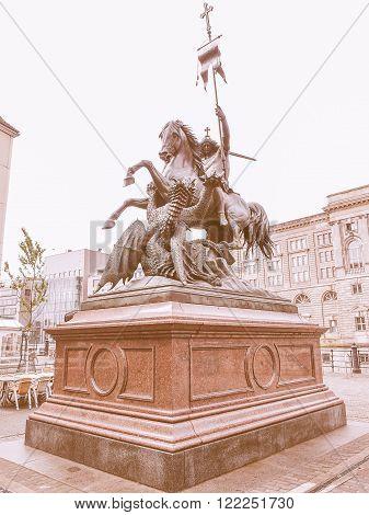 St George Monument Berlin Vintage