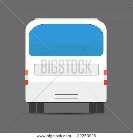 White Bus Rear