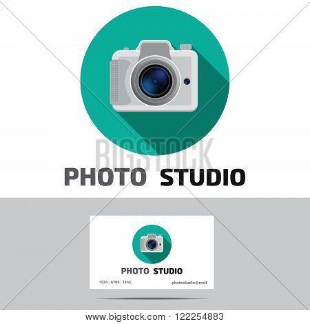 Foto studio logo. Foto studio emblem. Photo studio logo   Fotostudio emblem, logo.