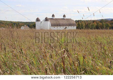 A white barn in Sleeping Bear Dunes National Lakeshore, Michigan.