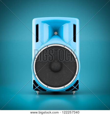 Beautiful music speaker isolated on blue background