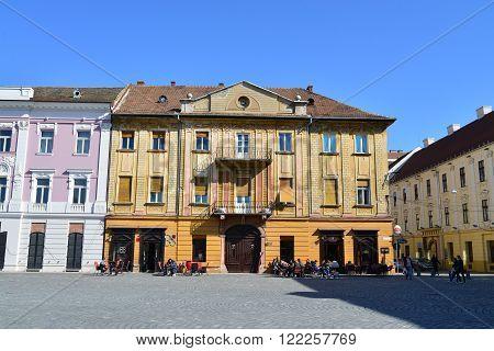 TIMISOARA ROMANIA - 03.14.2016: union square building landmark architecture