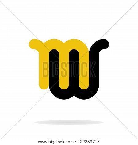 Abstract letters M and W logo template. M, W logo. Letters logo. M, W icon. Business logo template. Vector. Minimal logo. Monogram. Isolated logo