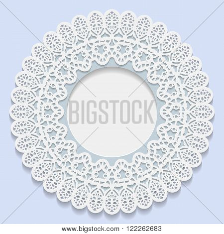 3D Vector bas-relief frame vignette with ornaments decorative plate festive pattern white pattern template greetings