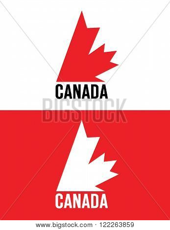 Vector Canadian Emblem Set in Colour and Reverse