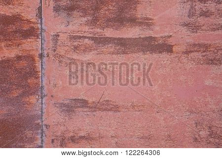 Red Rust Plate Background
