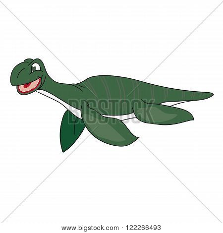 The image of a plesiosaur on a white background.