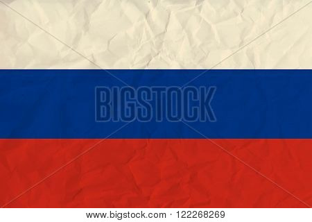 Vector image of the Russia paper flag