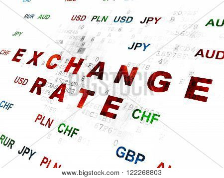 Money concept: Exchange Rate on Digital background