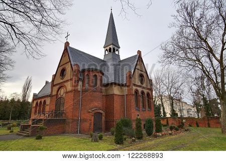 Chapel On Sudenburg Cemetary In Magdeburg, Saxony-anhalt, Germany