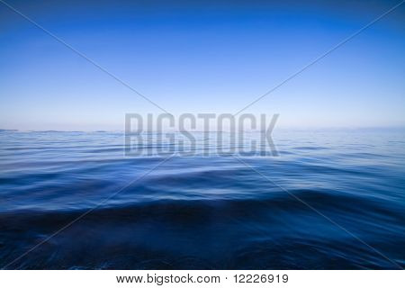 blue water seascape abstract background