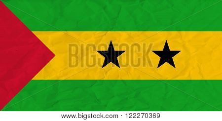 Vector image of the Sao Tome and Principe paper  flag