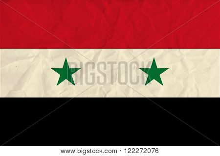 Vector image of the Syria  paper  flag