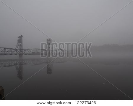 Lift Bridge in the early morning Fog