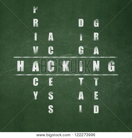 Protection concept: Hacking in Crossword Puzzle