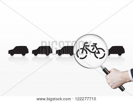 Man Choosing Bike
