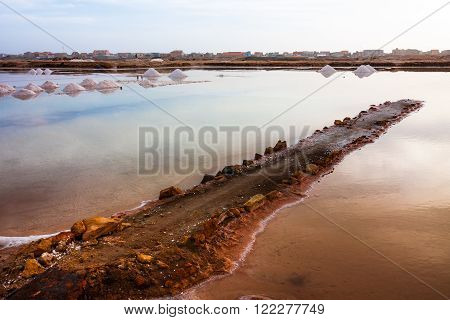 Salt ponds in Cape Verde, Santa Maria Salinas, Africa
