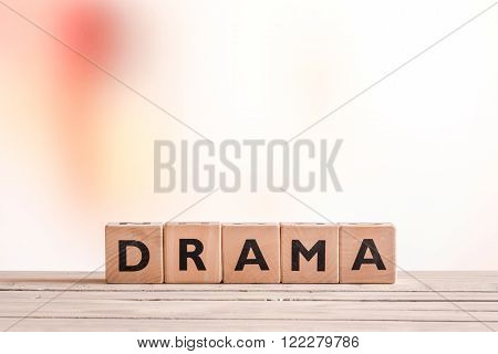 Drama Sign On A Table