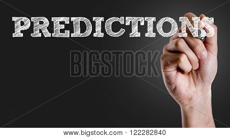 Hand writing the text: Prediction