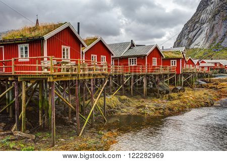 Fishing huts at Reine, Lofoten islands, Norway